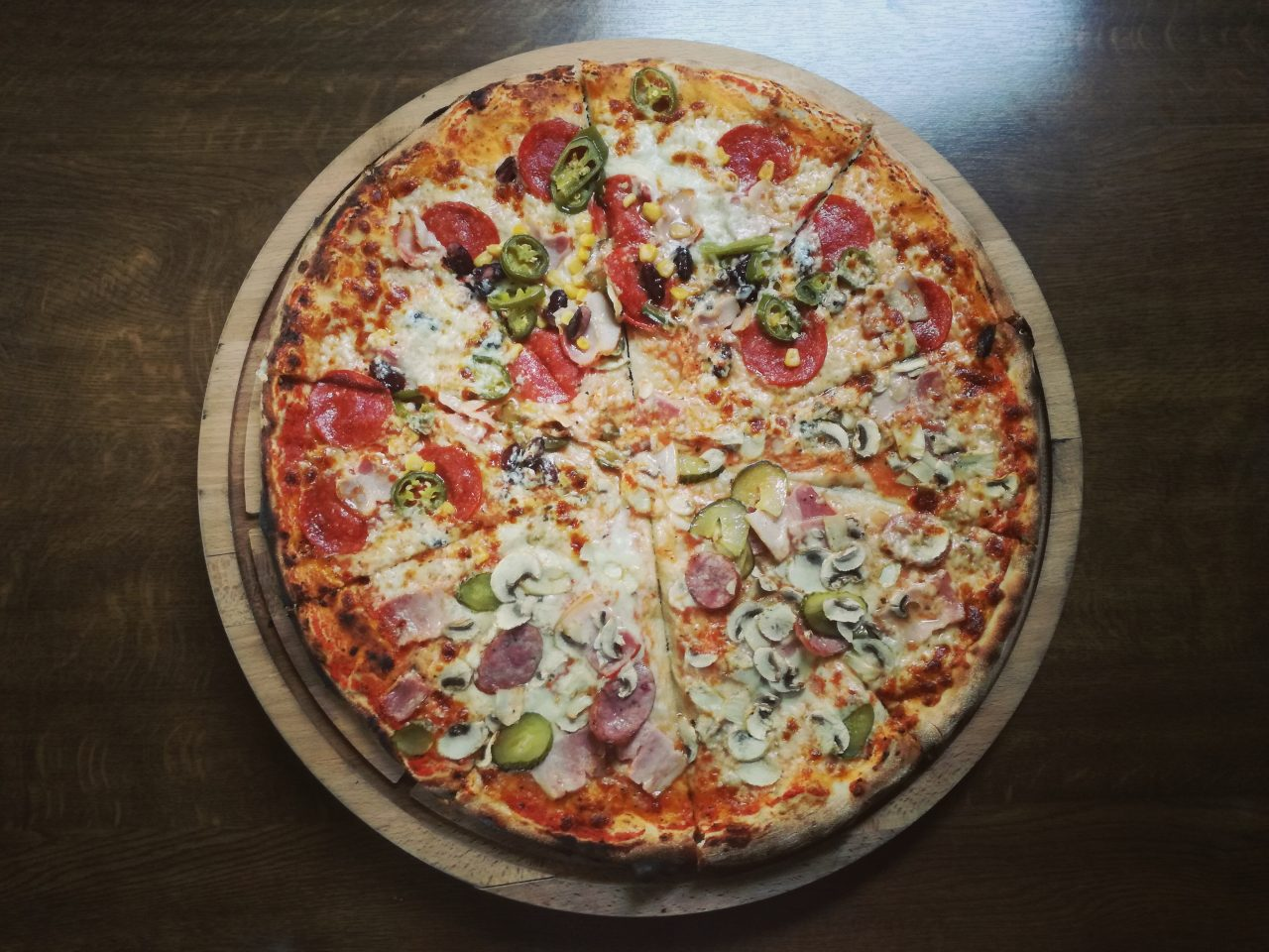 socker i pizza